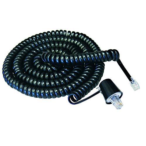 (Softalk 03201 Phone Coil Cord with Twisstop 25-Feet Black Landline Telephone Accessory)