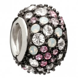 - Chamilia Jeweled Kaleidoscope Pink & Black Swarovski Bead