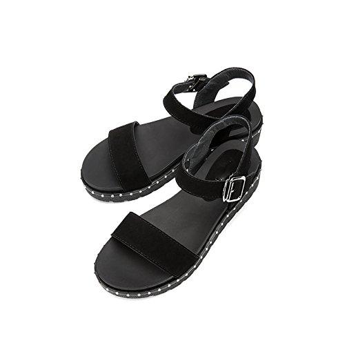S Ocasionales Moda Sandalias de Zapatillas Sandalias Planas Color de de de DHG Mujer de Punta Verano Sandalias Dulces TSUUP