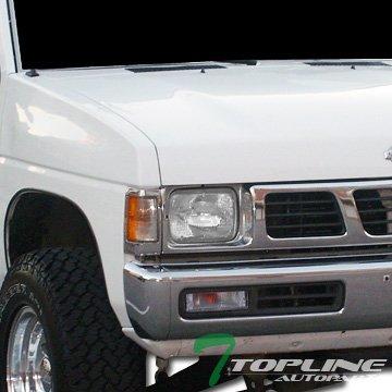 87 Signal Light Driver (Topline Autopart Crystal Clear Signal Bumper Lights Lamps Blinkers For 87-95 Nissan Pathfinder 88-97 Nissan Hardbody D21)