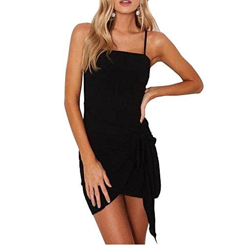 2017 mujeres de verano vestido de encaje lateral con vestido de lino Black