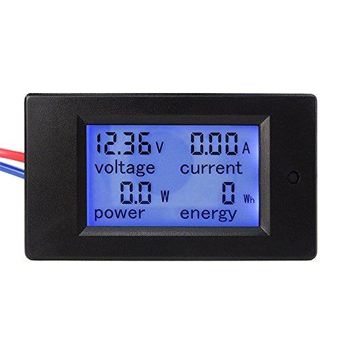 uniquegoods DC 6.5-100V 0-20A 4 in 1 LCD Display Digital Current Voltage Power Energy Meter Multimeter Ammeter Voltmeter Built-in Current Shunt