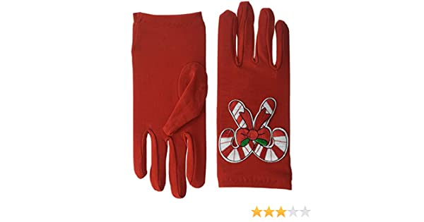 Standard 1 24 Forum Novelties 81804 Red Christmas Gloves-Candy Canes