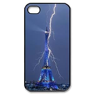 [QiongMai Phone Case] For Iphone 4 4S case cover -Retro Eiffel Tower-IKAI0448233