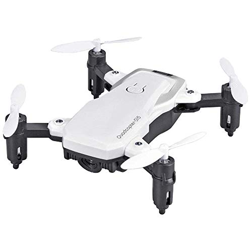 Ajing S15 Foldable Mini Drone with HD 480P Camera, RC Helicopter WiFi FPV RC 4-Axis Voice/Gesture Control, Trajectory…