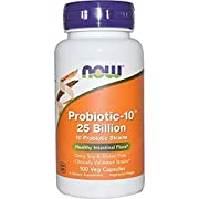 Now Probiotic-10 25 Billion,50 Veg Capsules (100 Veg Caps)