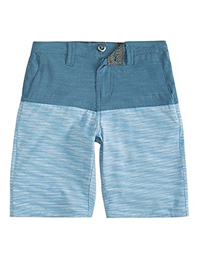 Cotton Volcom Belt (Volcom Kids Boy's Frickin SNT Block Shorts (Big Kids) Smokey Blue 26 (12 Big Kids) 18)
