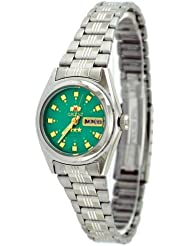 Orient #BNQ1X003N Womens Tri Star Light Green Dial Automatic Watch