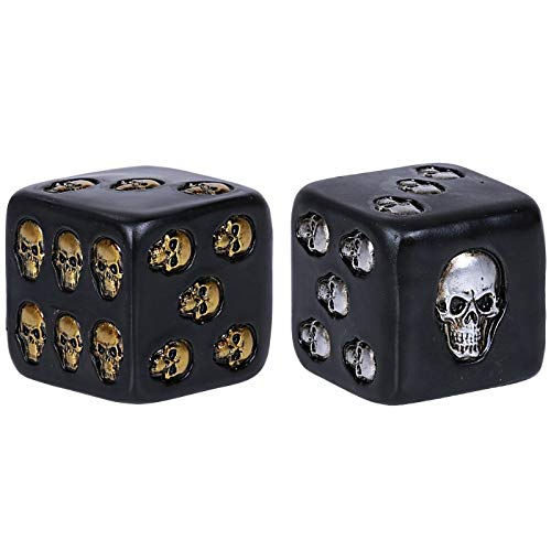 Pacific Giftware Decorative Black Skull Dice of Death 2 Inches Each Set of 2