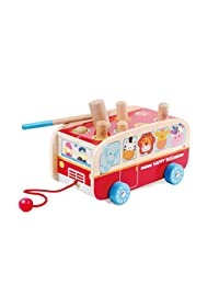 Exciting Animal Bus Pounding Bench with Pull along String - For Toddlers and Preschool - By Kids Destiny BOBEBE Online Baby Store From New York to Miami and Los Angeles