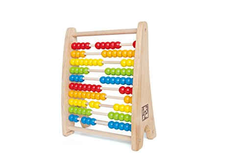 - Hape Rainbow Wooden Counting Bead Abacus