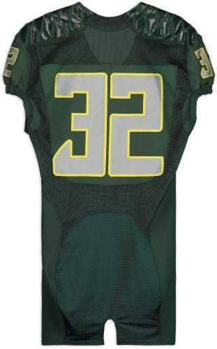 Oregon Ducks Team-Issued #32 GreenMighty Oregon Jersey from the 2013 Football Season Size 42 College Game Used Jerseys