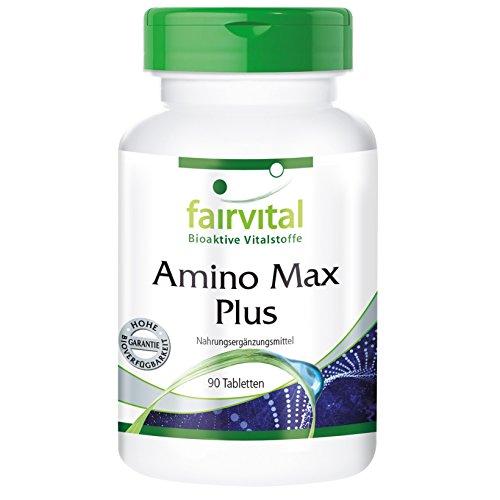 Amino Max Plus - 90 Tabletten - aus 13 Aminosäuren und Cholin - reich an BCAAs: Valin, Leucin, Isoleucin