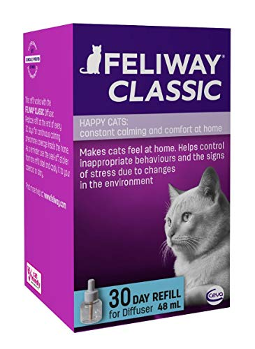 FELIWAY Classic 30 day Refill, comforts cats and helps solve behavioural issues in the home  – 48ml