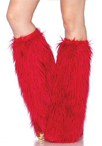 Leg Avenue Women's Furry Leg Warmers, Red, One Size (Yandy.com Costume)