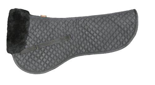 c Half Saddle Pad - Large - Black (Wither Half Wool)