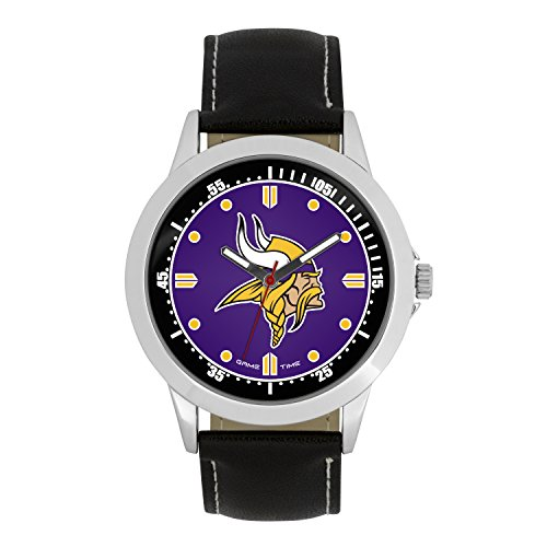 NFL Minnesota Vikings Mens Player Series Wrist Watch, Silver, One Size