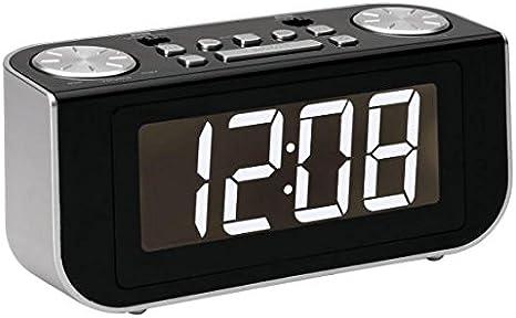 Roadstar CLR-2618 - Radio despertador MW/FM, color negro