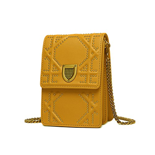Cellphone Shoulder Mini Fashion Messenger Bag Travel Bag Purse Yellow Wallet IS7n7AU