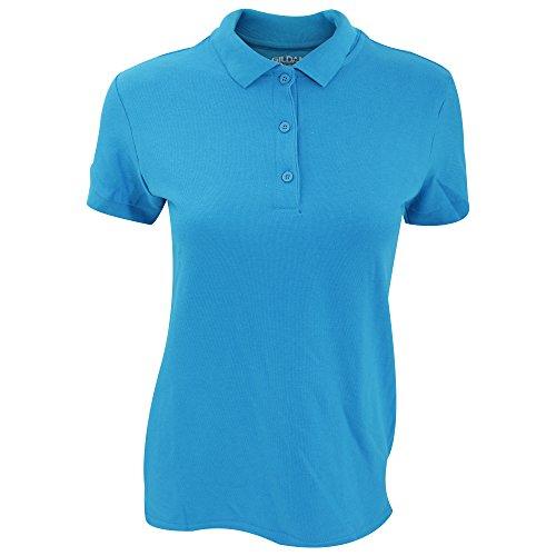 Gildan Womens/Ladies Premium Cotton Sport Double Pique Polo Shirt (S) (Sapphire)