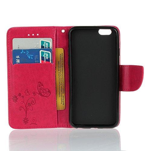 Für Apple iPhone 6 Plus (5.5 Zoll) Tasche ZeWoo® PU Ledertasche Hülle Leder Schutzhülle Case Cover - HX006 / Rose