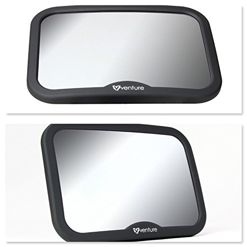 Premium Black Venture Baby Car Mirror Shatterproof Baby Mirror for Car