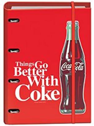 Coca Cola – Carpeta Rojo 4 anillas con recambio Coca Cola Vintage: Amazon.es: Oficina y papelería