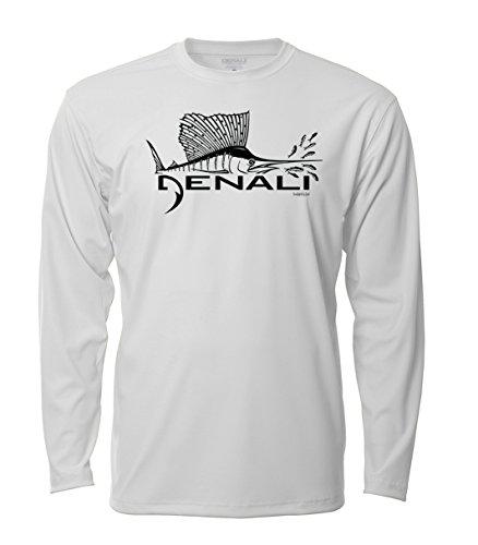 Denali Performance Men's UPF 50+ ProtectUV Mega Solar Long Sleeve T-Shirt with Denali Sailfish Logo ()