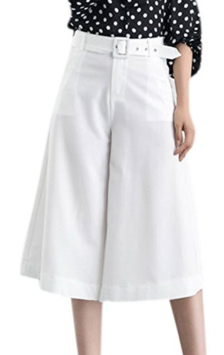 Youtobin Women's Wide Leg Cropped Pleated Loose Casual Flared Pants XL - Beckham Buy To Where Victoria
