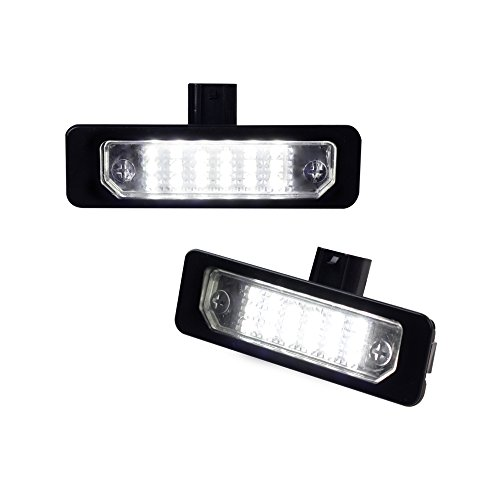 MOFORKIT LED License Plate Light Compatible with Ford Flex 09-18, Mustang 10-14, Focus 08-11, Fusion 06-12 White