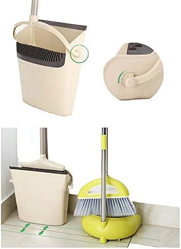 Windproof dustpan extension pole broom combination upright height 47.25 inches by STSUNEU RO-SM