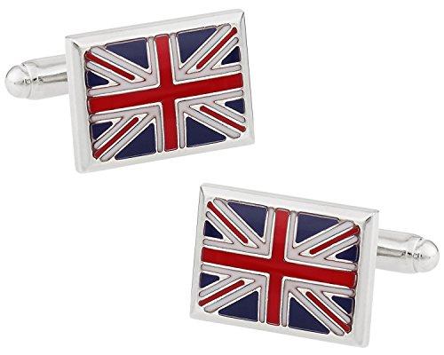 Cuff-Daddy Union Jack Cufflinks with Presentation (British Flag Cufflinks)