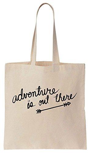 Adventure Is Out There Arrow Design Sacchetto di cotone tela di canapa