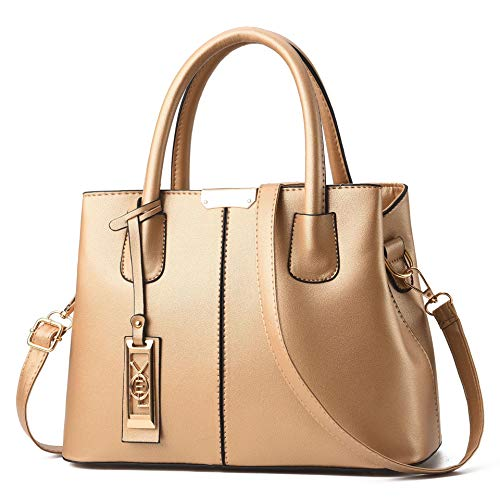 Handbags Gold Messenger Small - COCIFER Women Top Handle Satchel Handbags Shoulder Bag Tote Purse Messenger Bags