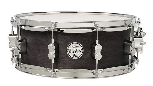 PDP By DW Black Wax Maple Snare Drum 6.5x14