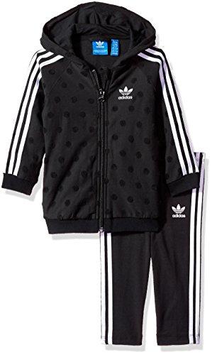 adidas Originals Sets Infant Trefoil Hoodie and Pants, Black/White, ()