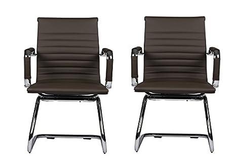 Amazon.com: Drn muebles silla de piel reposabrazos silla de ...