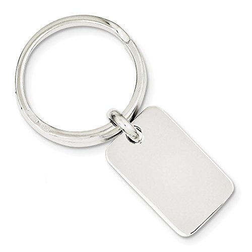 Sterling Keychain (Sterling Silver Engravable Key Ring)