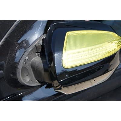 Headlights, Tail Lights, Fog Lights Tint Vinyl Film, Self Adhesive (Small 12''X48'', JDM Golden Yellow): Automotive