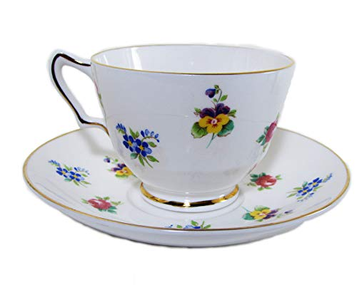 Rose Pansy by Crown Staffordshire - Cup and - Saucer Staffordshire Cup