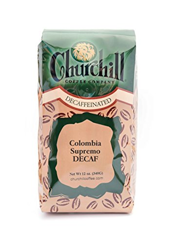 Churchill Coffee Colombia Supremo 12 oz - Whole Bean (Decaf)