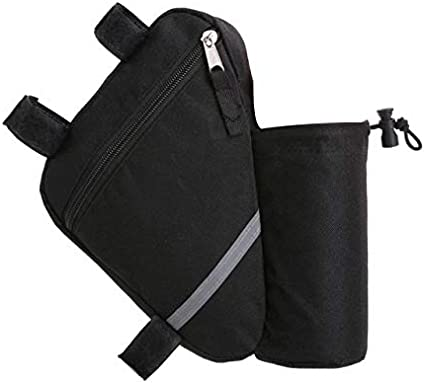 Bicycle Triangle Bag Bike Frame Cycling Accessories Pouch With Bottle Pocket