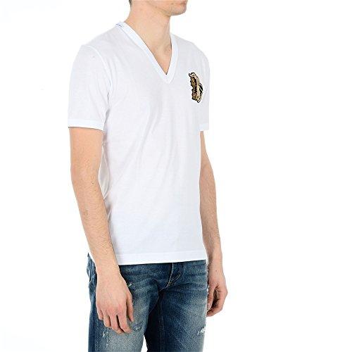 Dolce E Gabbana Herren G8HA0ZG7KAKW0800 Weiss Baumwolle T-Shirt