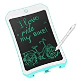 mom&myaboys  LCD Writing Tablet for Kids Toys for 3-12 Years Old Girls, 8.5 inch Drawing and Writing Board with Lock Erase Button for Adults for School and Office(blue-77)