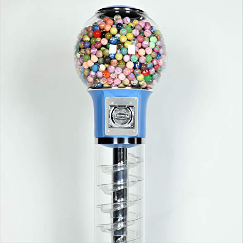 Wiz-Kid Wizard Spiral Gumball Vending Machine Height 4' - $0.25 - (Blue) by Global Gumball (Image #7)