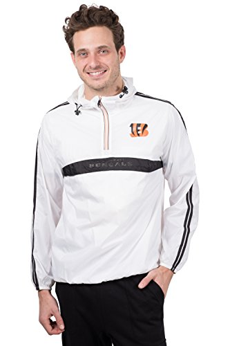 Icer Brands NFL Cincinnati Bengals Men's Hoodie Windbreaker Waterproof Shell Jacket, X-Large, (Cincinnati Bengals Nfl Hoody)