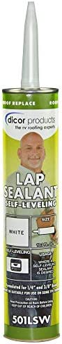 Dicor 501LSW Arctic White 10.3 fl. Oz Self-Levelling Lap Sealant, 1 (Non-Carb Compliant)