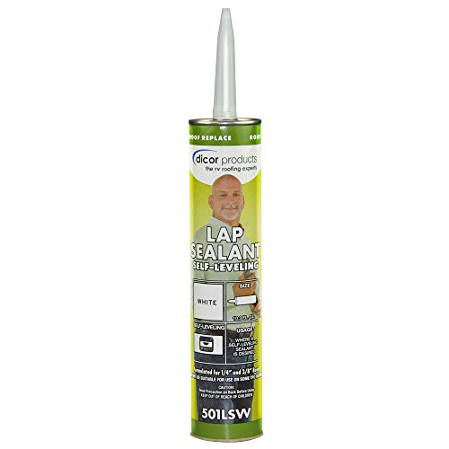 Dicor 501LSW-1 Epdm Self-Leveling Lap Sealant-10.3 Oz. Tube, White, 10.3 Fluid_Ounces
