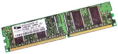 Dell 128MB DIMM DDR PC-3200 400MHZ 184 Pin CL3 Non-ECC 4-J0198 ()