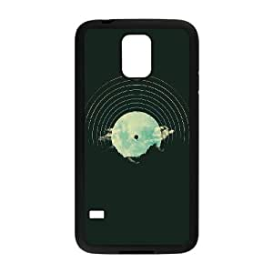 Mountains Balloon Abstract Illustration Samsung Galaxy S5 Cell Phone Case Black&Phone Accessory STC_069299